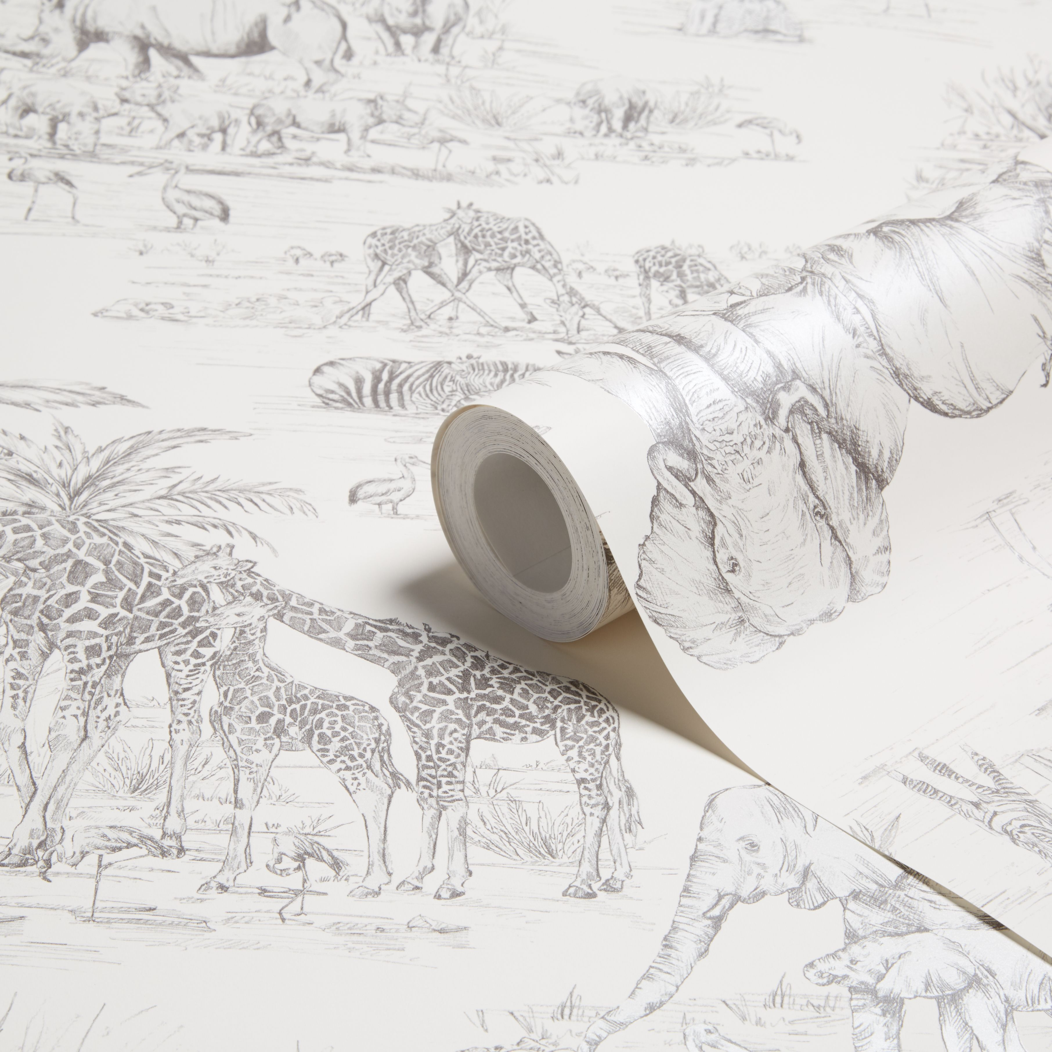 Colours Watering Hole Cream Animal Safari Metallic Wallpaper B Q For All Your Home And Garden Supplies And Safari Room Kids Bedroom Wallpaper Safari Bedroom Childrens bedroom wallpaper b&q