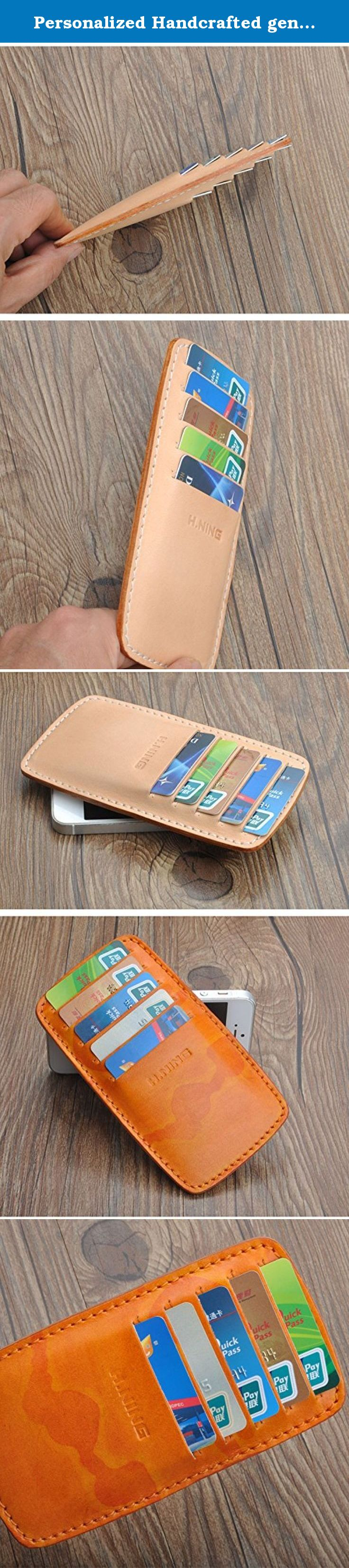 Personalized handcrafted genuine leather card holder