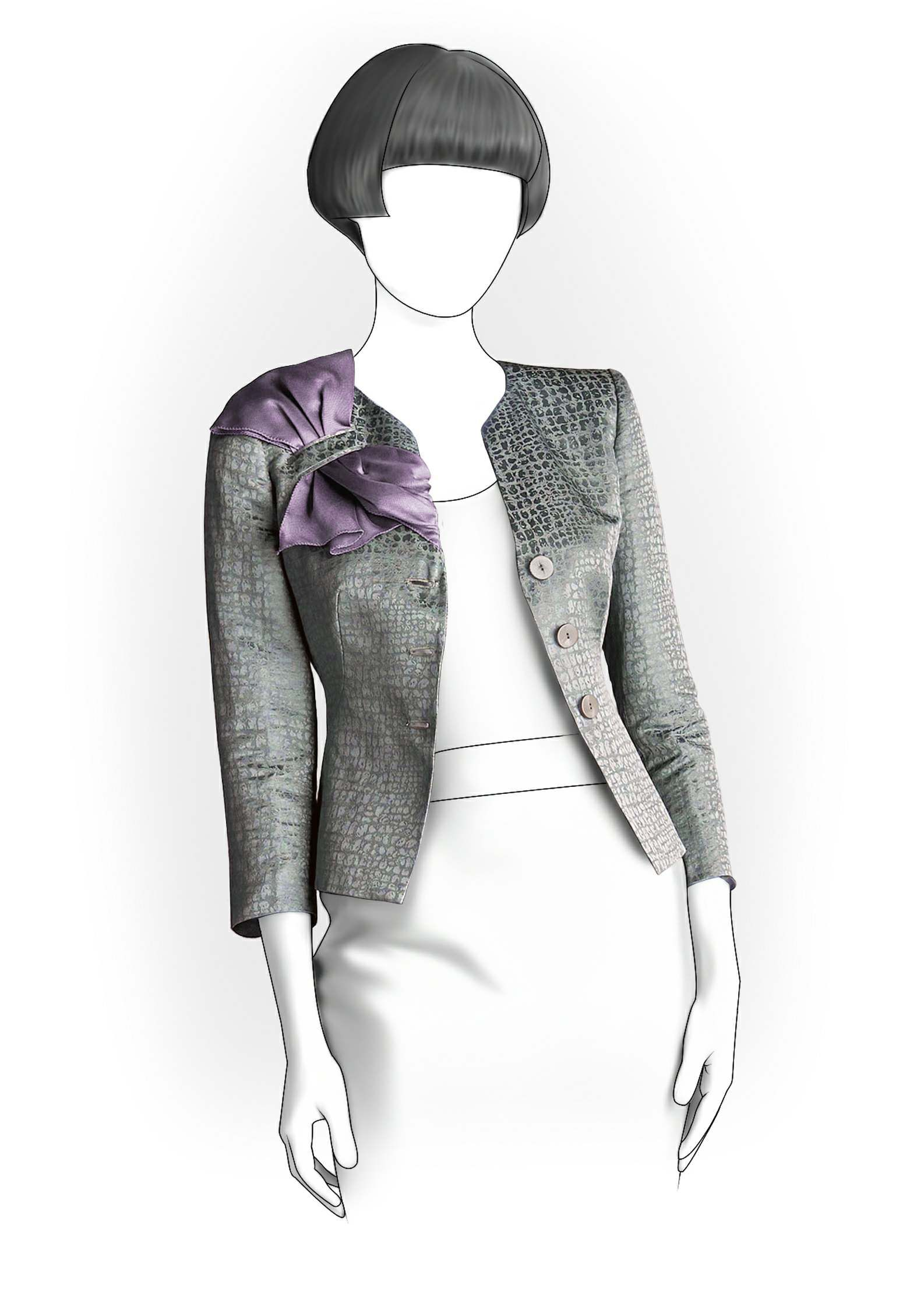 Jacke - Schnittmuster #5991. Made-to-measure sewing pattern from ...