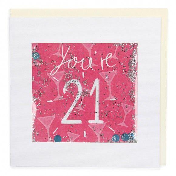 Shakies Pink Birthday Card