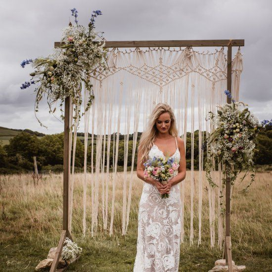 Outdoor Wedding Ceremony Yorkshire: BEAUTIFULLY BOHO OUTDOOR WEDDING