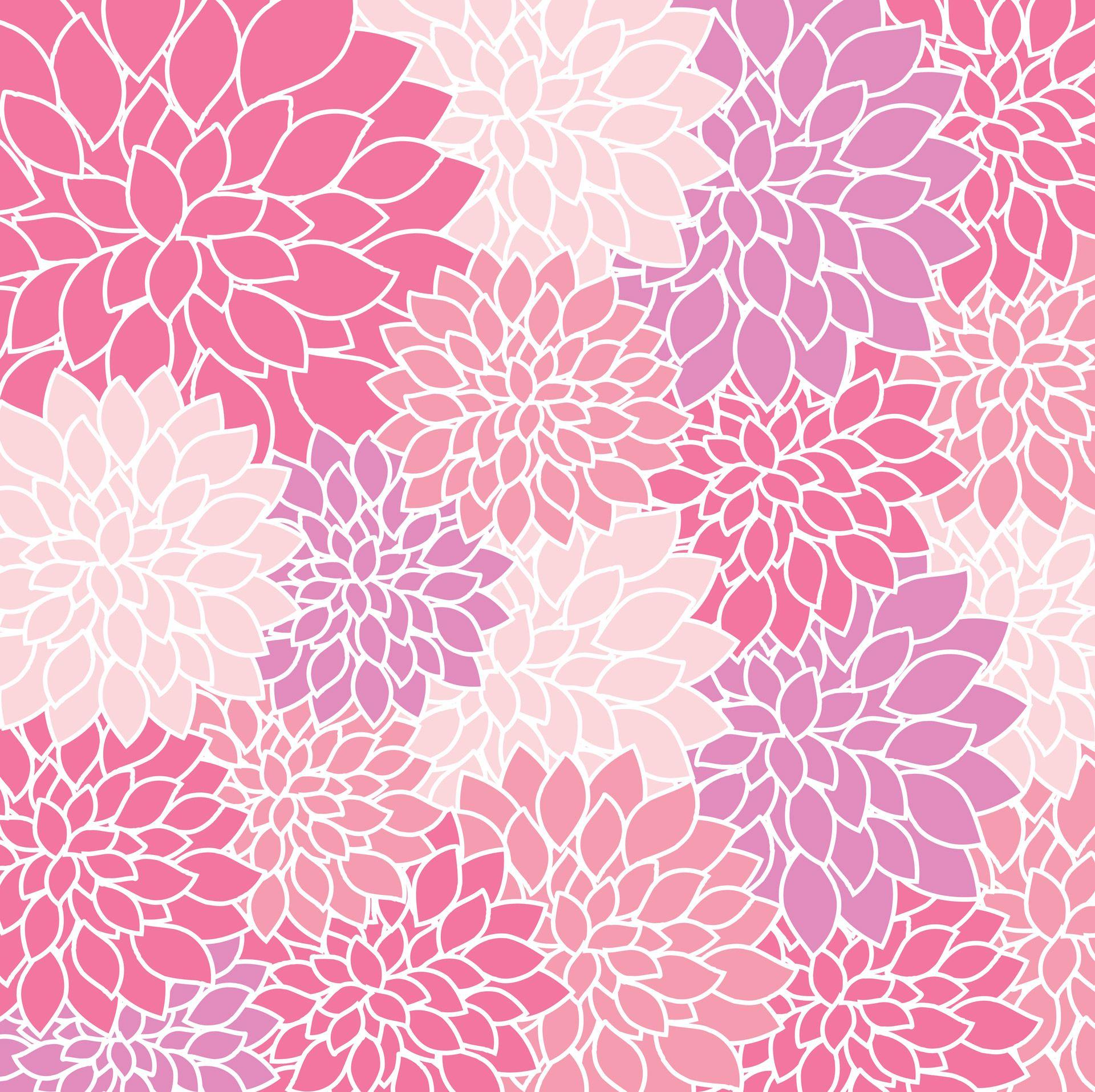 Vintage Floral Wallpaper Background Free Stock Photo 花柄の壁紙