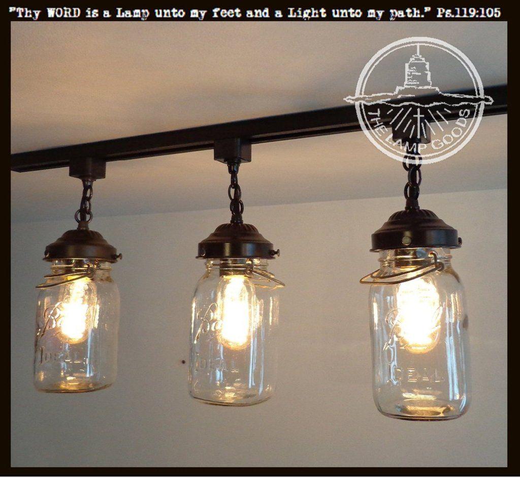 Rustic Mason Jar Track Light Of Vintage Quarts Mason Jar Light Fixture Mason Jar Lighting Mason Jar Pendant Light