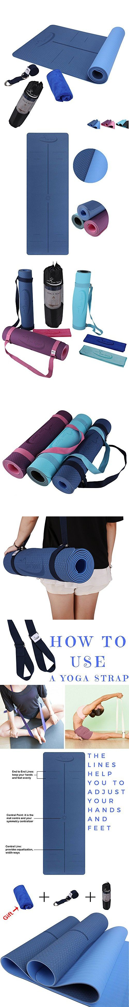 Hot Yoga Mat Set By Low Sport 100 Tpe Yoga Mat Strap Carrying Bag Free Bonus Yoga Hand Towel Non Slip Eco Friendly Super Elastic Yoga Mats For Women Hot