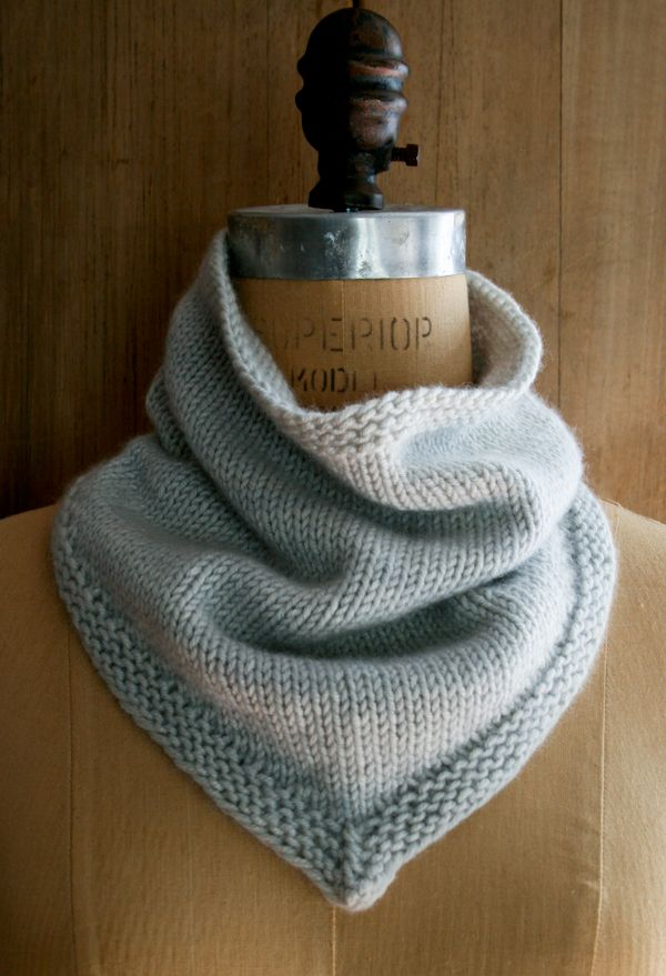 New Cashmere Bandana Cowl! - The Purl Bee - Knitting Crochet Sewing ...