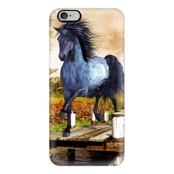 Horse on the Lake - iPhone 6s Case,iPhone 6 Case,iPhone 6s Plus... ($40) ❤ liked on Polyvore featuring accessories, tech accessories, iphone case, iphone cover case, apple iphone cases, clear iphone cases, iphone cases and slim iphone case
