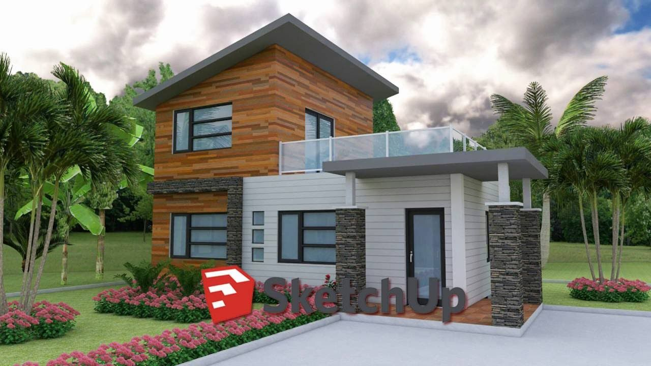 Gentil Sketchup House Modeling From Photo Layout Plan
