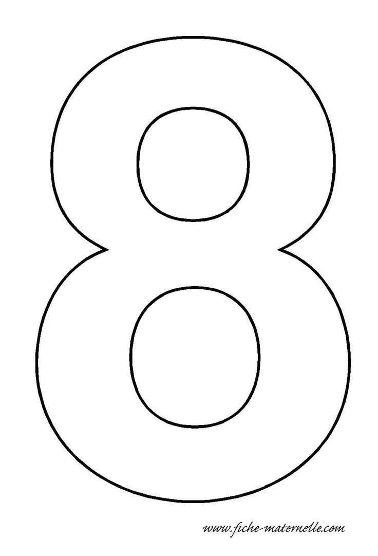 Number 8 Template Crafts And Worksheets For Preschool Toddler