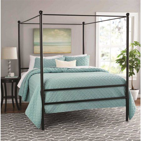 Home Queen Size Canopy Bed Canopy Bed Frame Metal Canopy Bed