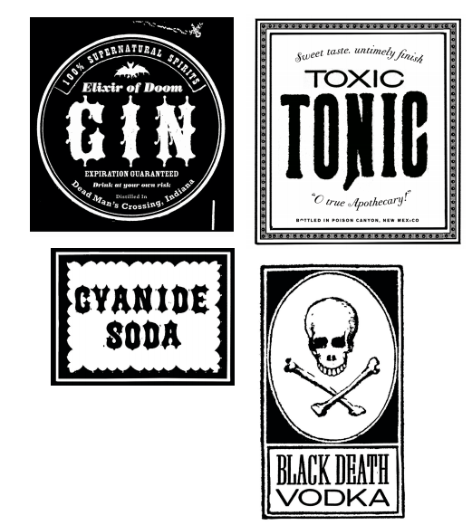printable halloween bottle labels martha stewart