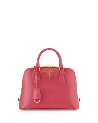 edf73f30efcf Small Saffiano Promenade Bag, Pink (Peonia) by Prada at Bergdorf Goodman.