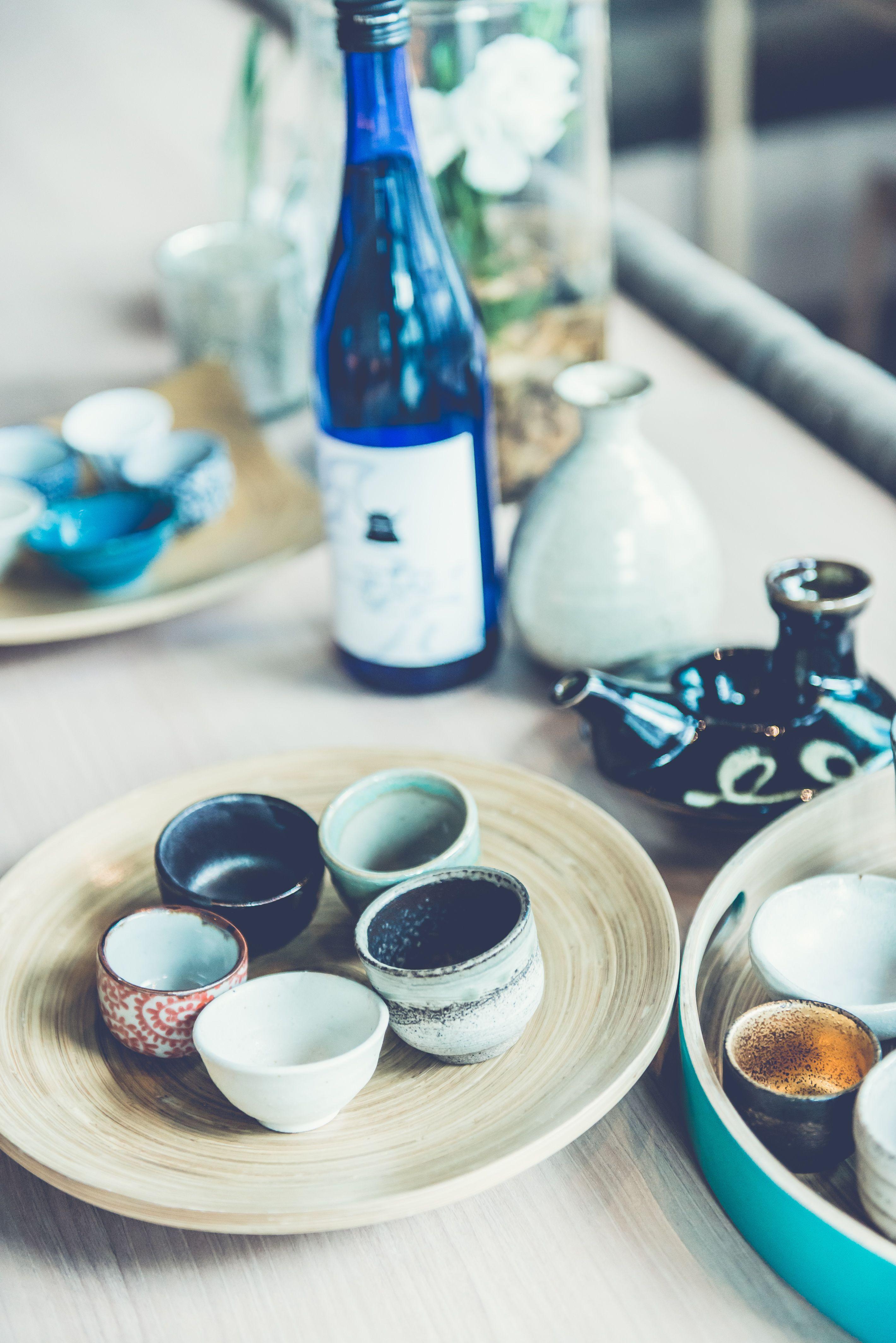 Japanese traditional sake glasses, together with our exclusive sake Kurokabuto  #tburu #singapore #japanese #restaurant #sake #foodporn #drinks #alcohol #traditional