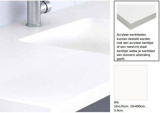 Acrylaat maatwerkblad wit - Keukenblad, Keukens en Ikea