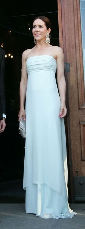 Crown Princess Mary in Aqua