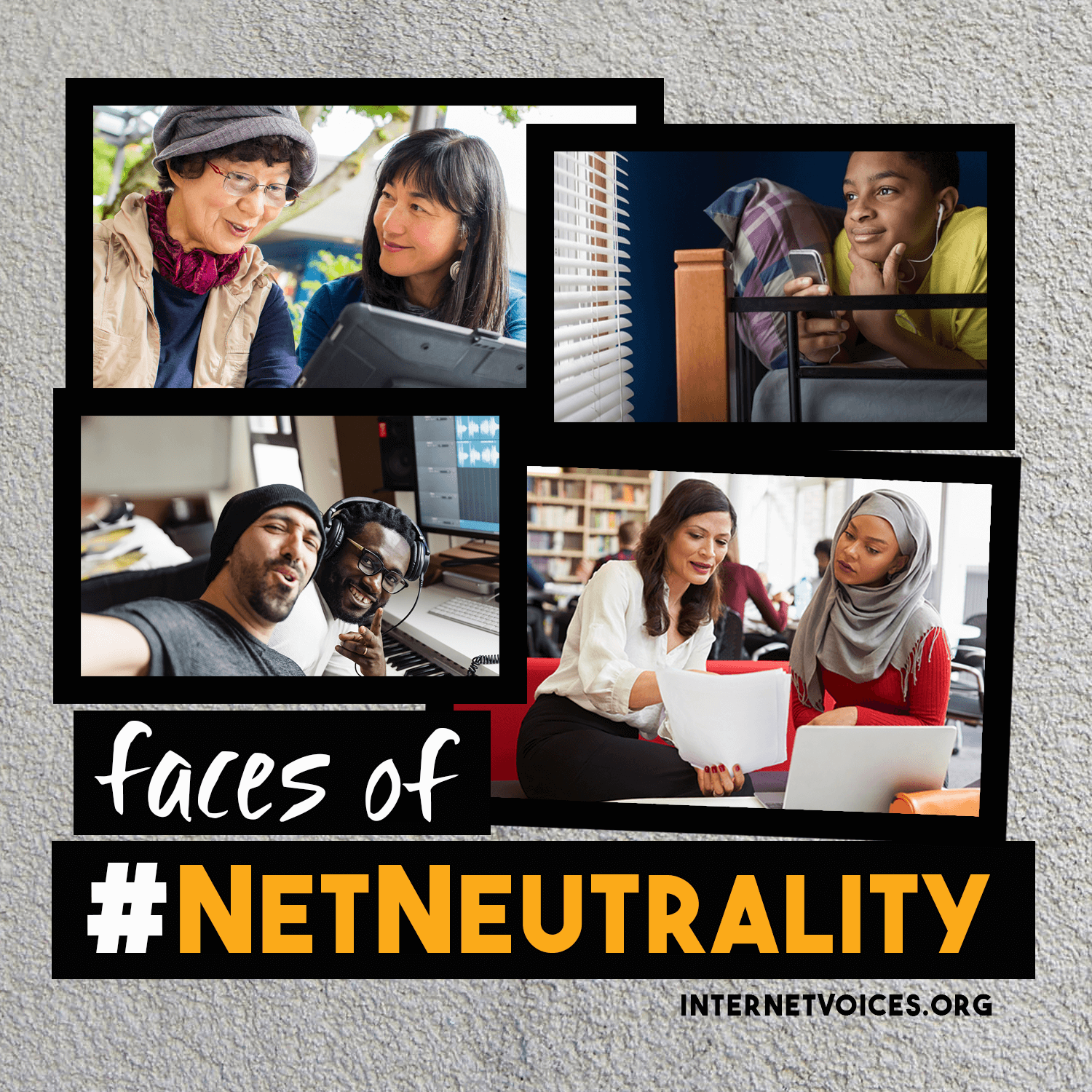 Don't believe major media outlets' claims that Net Neutrality is a battle between the CEOs of companies like Amazon and Netflix.   --    We're here to set the record straight: it's about people, not corporations.