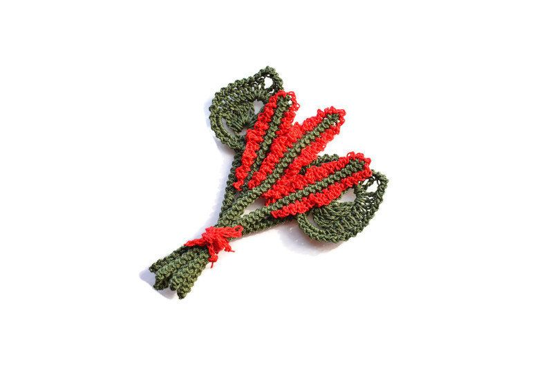 Crochet bouquet of flowers, Applique for women clothes, Irish crochet lace, Inspiration kit #irishcrochetflowers