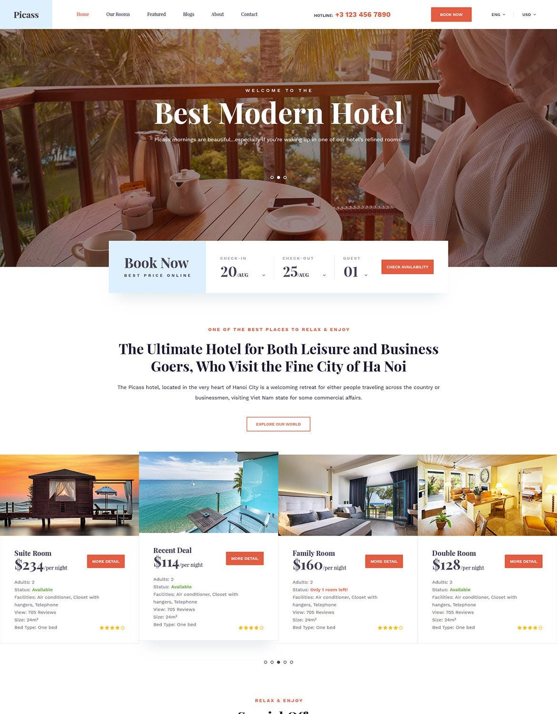 Hotel Psd Website Templates 40 Layered Psd Files Psd Website