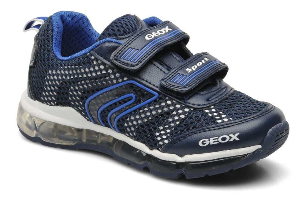 Geox J Android B. A Boys Navy White Casual Velcro Sporty