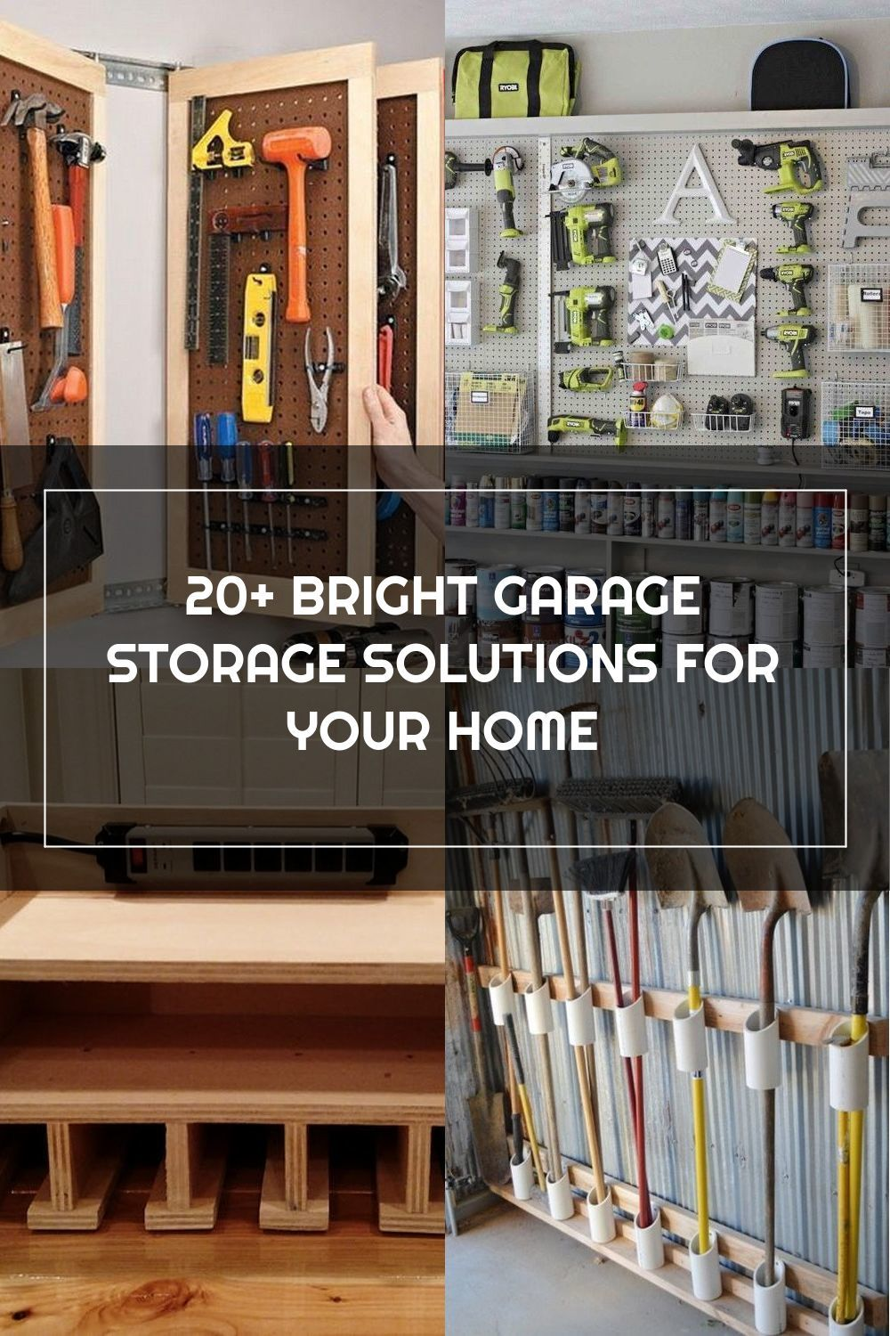 20+ BRIGHT GARAGE STORAGE SOLUTIONS FOR YOUR HOME #garage #homedesign #homedesignideas