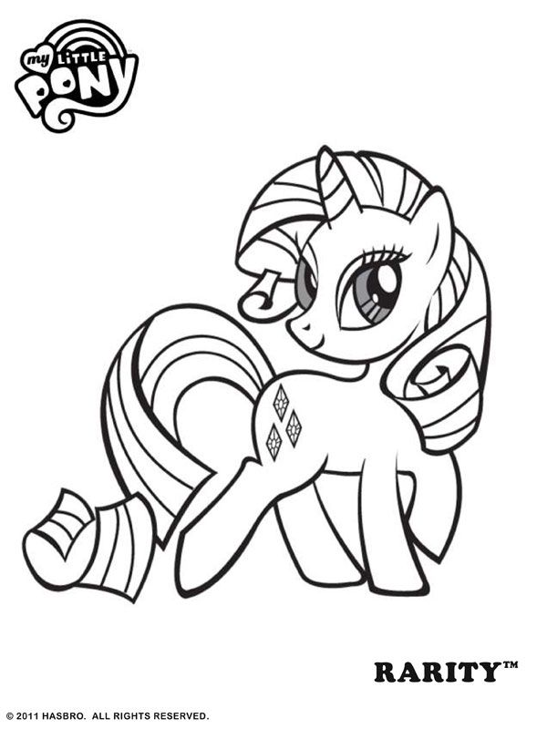 Free Online My Little Pony - Rarity Coloring Page | Crystals room ...