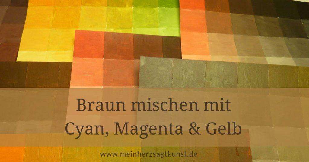 Braun Mischen Mit Den Grundfarben Grundfarben Acrylmalerei Und