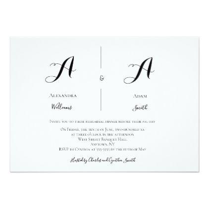 modern monogram rehearsal dinner invitations in 2018 wedding