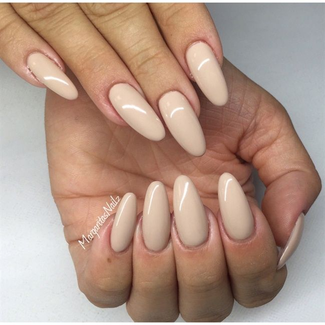 Nude Oval Nails - Nail Art Gallery