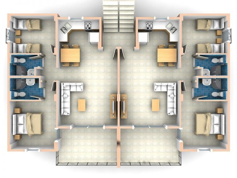 17 Two Bedroom Apartment Plans, Spectacular Collection | 2 ...