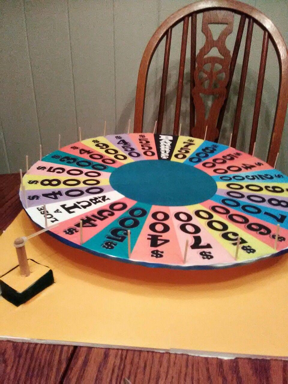 Homemade foam board wheel of fortune wheel of fortune