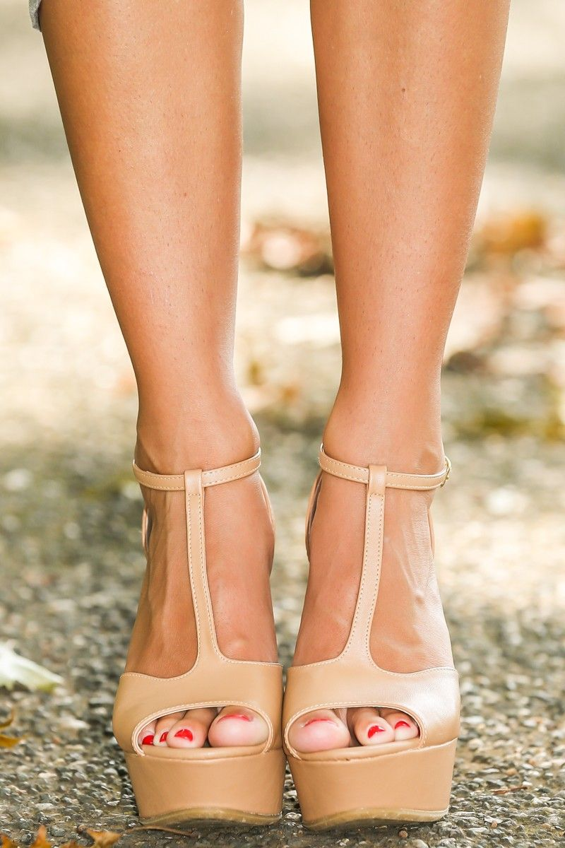 Basic Instinct Wedge Nude Sandal Wedges All Wedges All Shoes