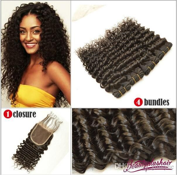 Brazilian Virgin Hair With Closure Hair Bundle With Closures 6a