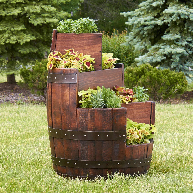 Wooden Beer Barrel Planters Wine Barrel Planter Beer Barrel Ideas Barrel Planter