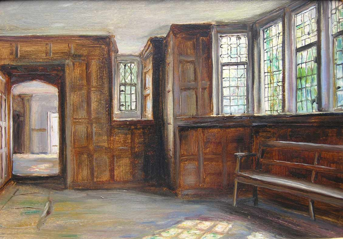 U201c Owlpen Manor Oak Parlour In 1922 By Frank Moss Bennett U201d