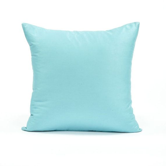 20 X 20 Solid Tiffany Blue Throw Pillow Cover by BHDecor on