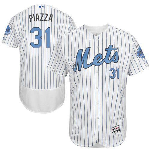 2016 MLB FLEXBASE New York Mets 31 Piazza Blue Jerseys