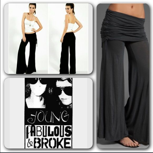 Young Fabulous & Broke Black Sierra Pants Beautiful Black Sierra Pants. Perfect to be dressed up or down. Bell bottom like, cloth style pants. Never worn. Brand new. ❌no trades. ✅offers accepted.  black pants has been in a home with pets. I apologize in advance if any hair lingers on, will try my best not to let that happen. Young Fabulous & Broke Pants Boot Cut & Flare
