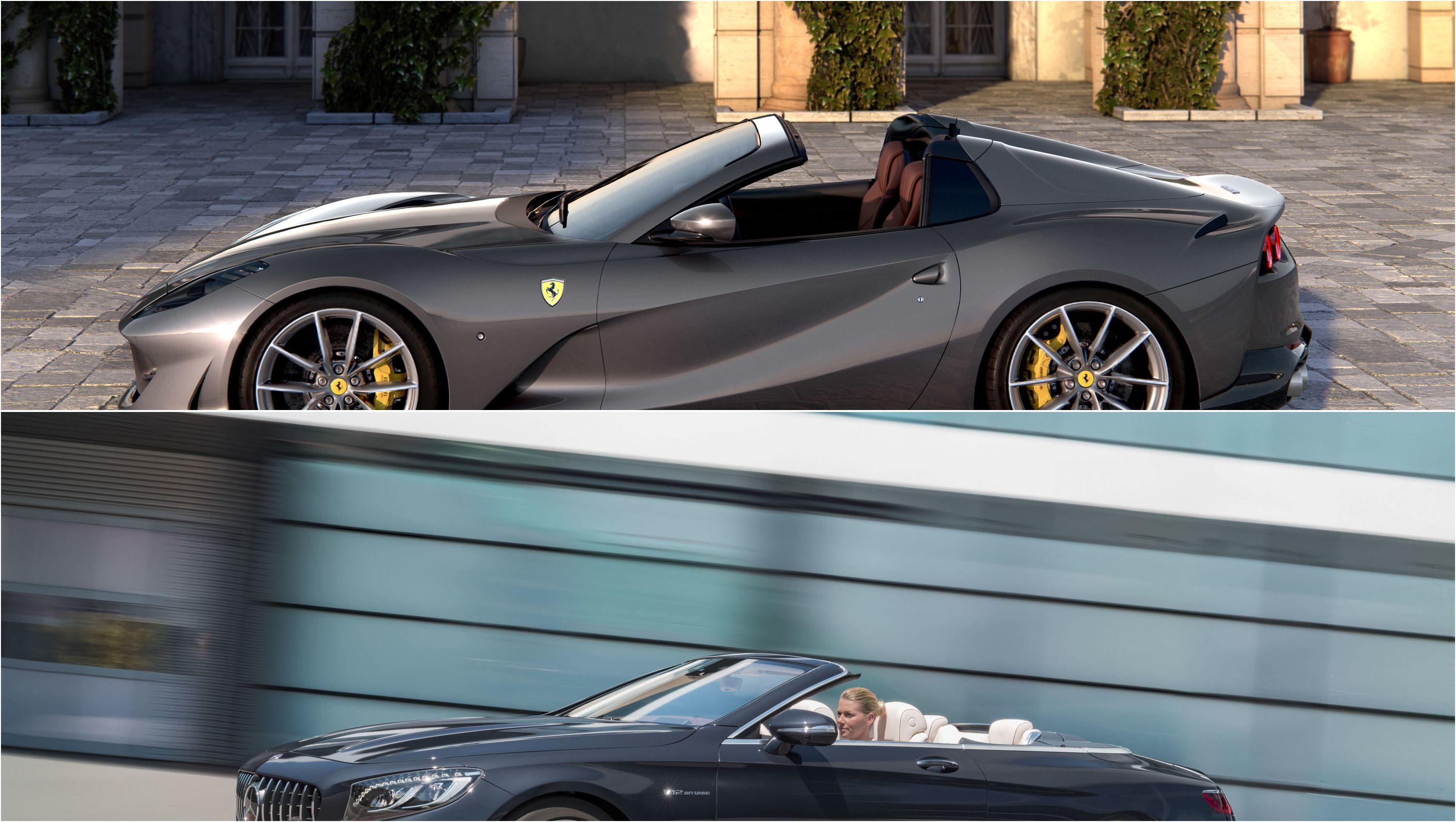 2020 Ferrari 812 Gts Vs 2020 Mercedes Amg S 65 Cabriolet