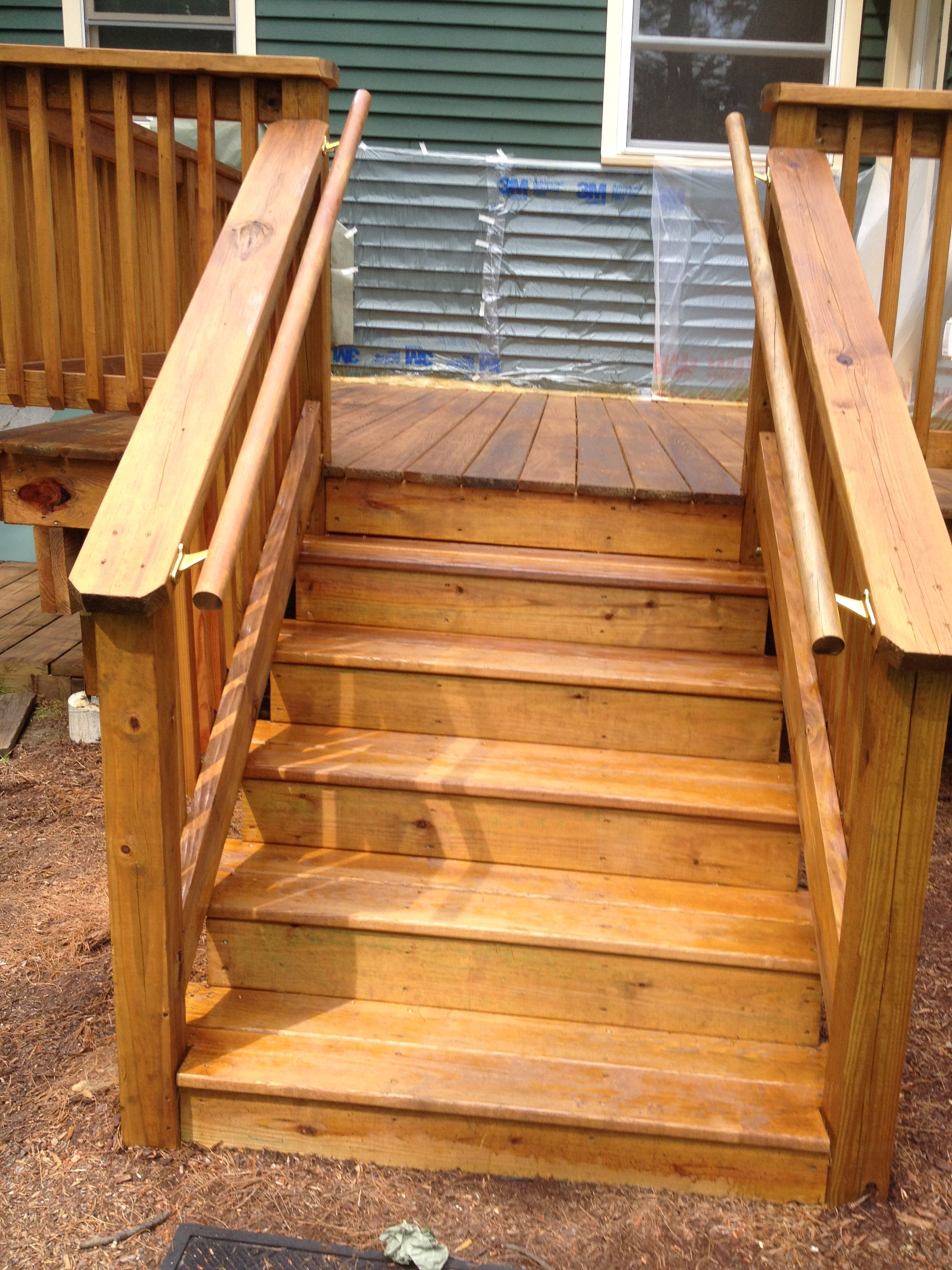 Pressure Treated Wood Deck In Attleboro Ma Twp Cedar | Pressure Treated Wood Steps