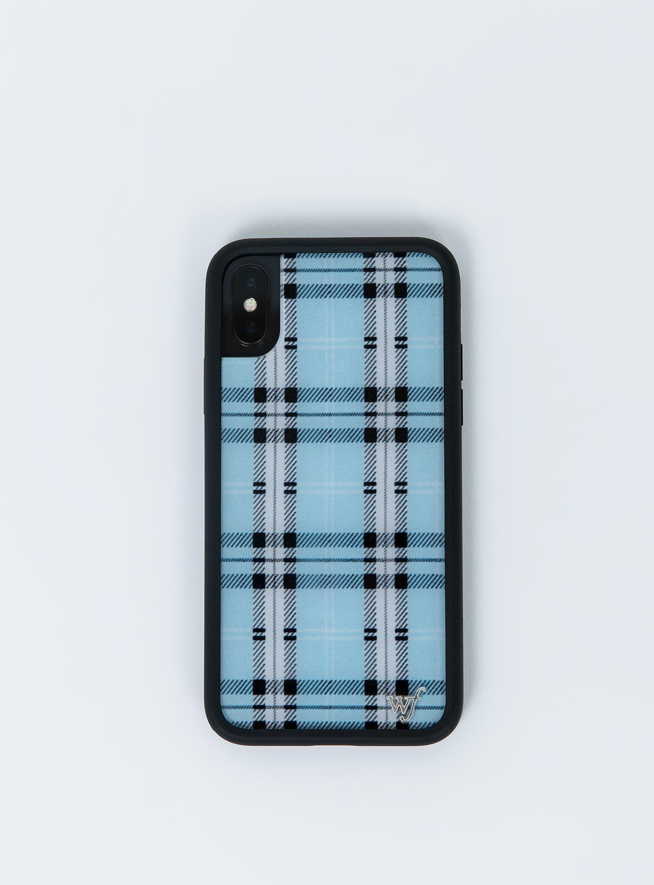 Wildflower Blue Plaid Iphone X Case Iphone X Blue Wildflower Phone Cases Apple Phone Case Cute Phone Cases