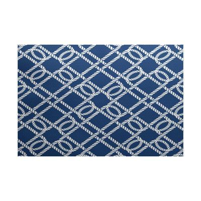 e by design Nautical Nights Blue Indoor/Outdoor Area Rug Rug Size: