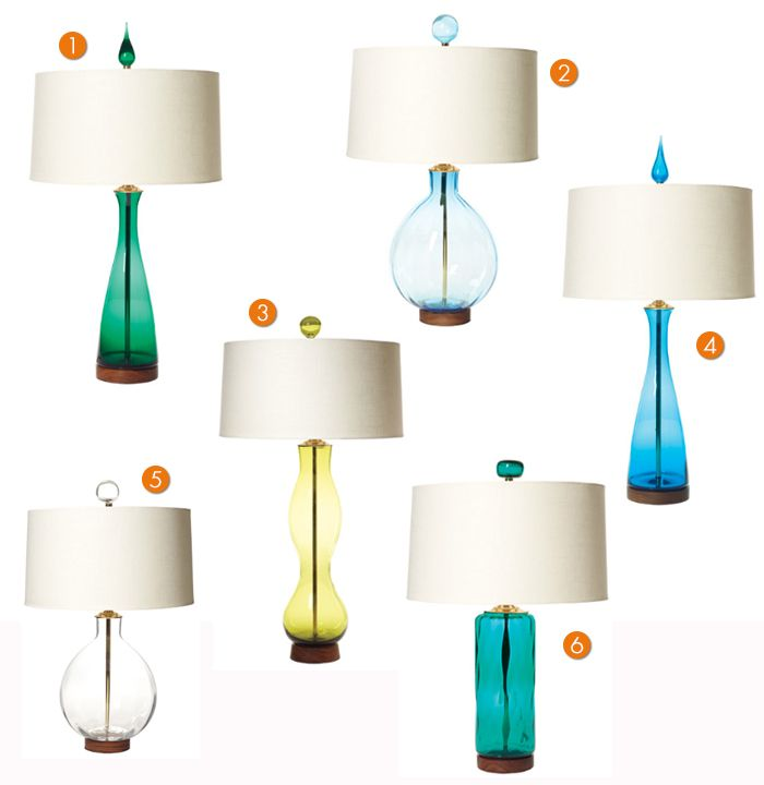 MID CENTURY MODERN REPRODUCTION HOUSE PARTS U0026 LIGHTING BY REJUVENATION    BLENKO TABLE LAMPS