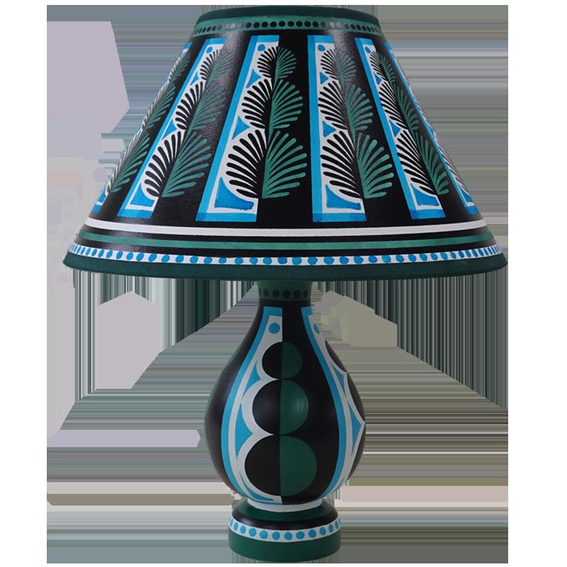 Topiary Green Blue Vase Lamp In 2020 Wooden Lamp Base Vase Lamp Lamp Bases