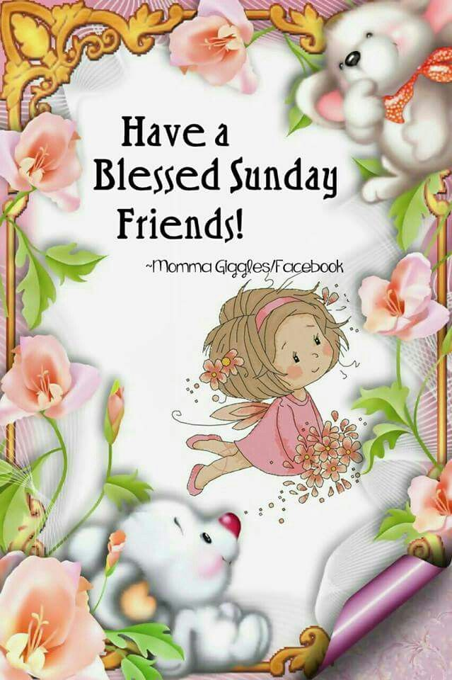 Have A Blessed Sunday Friends Days Of The Week Greetings