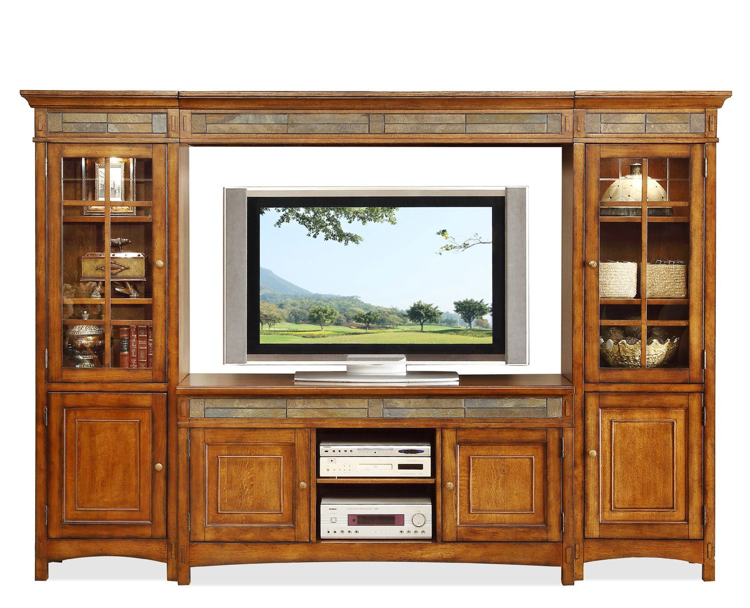 Craftsman Home Entertainment Center By Riverside   Home Gallery Stores