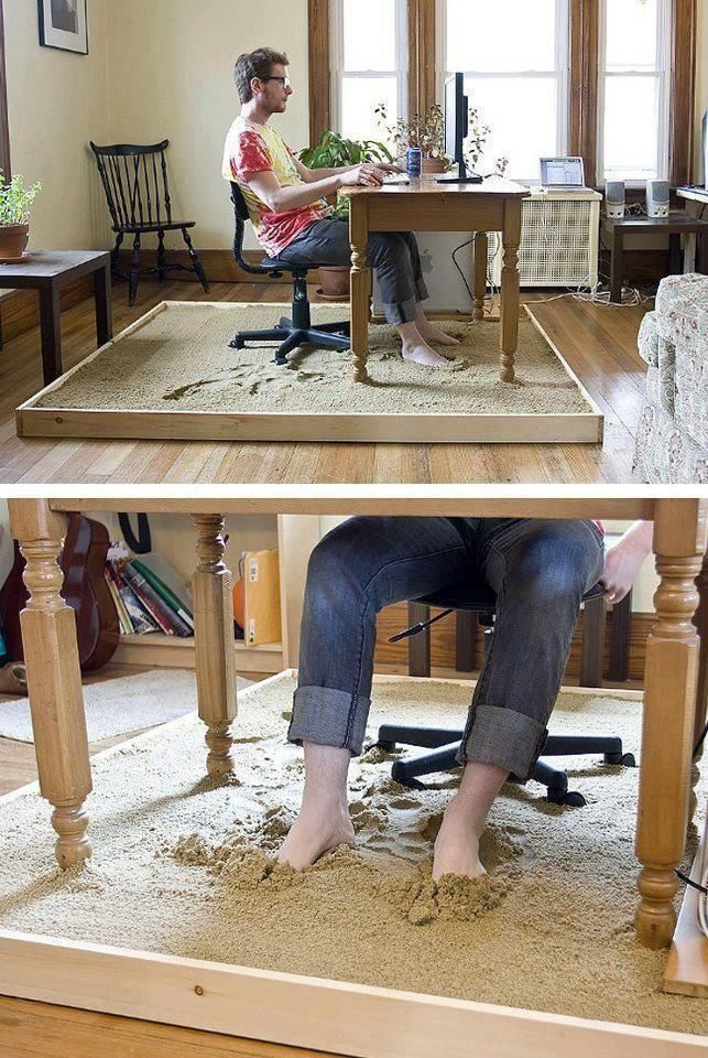 House Sandbox Desk