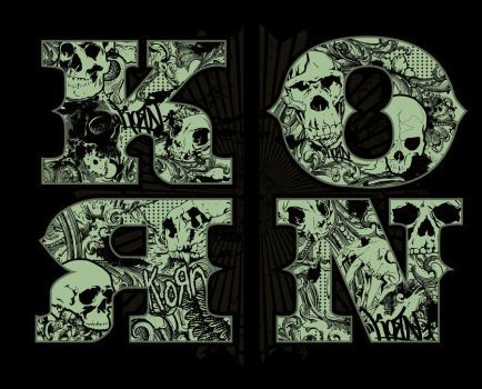 Korn Skulls In Letters By Gomedia Rock Band Posters Art Korn