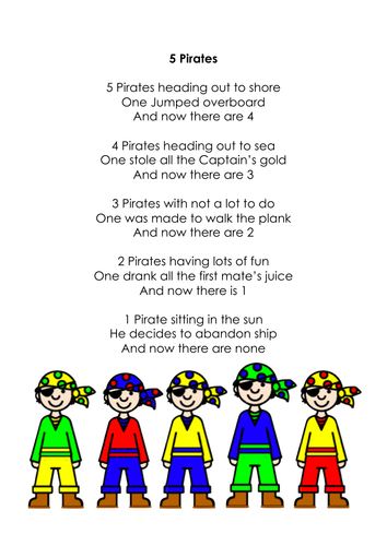 pirate rhyme pdf … | cute things | Presc…