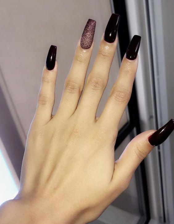 73 Best Acrylic Coffin Nails Ideas With Dark Colors Fall Winter Acrylic Co Acrylic Coffi Diy Acrylic Nails Simple Acrylic Nails Cute Acrylic Nails