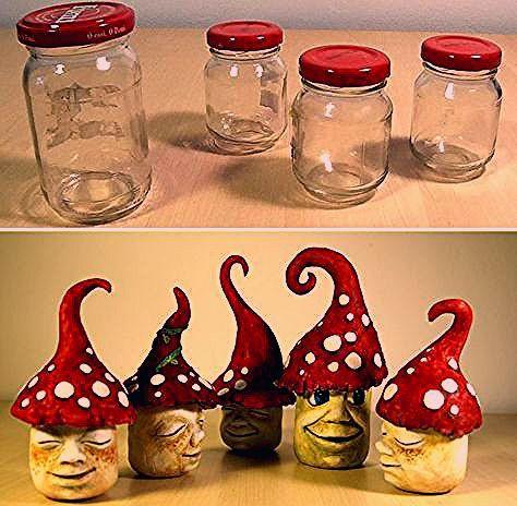Photo of So habe ich einige lustige Gartenzwerge hergestellt, die alte Gläser wiederverwenden … – Baby Diy