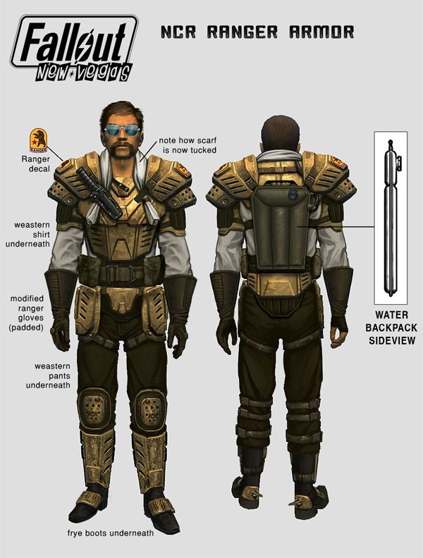 Fallout 4 Character Design Tips : Fallout nv ncr ranger armour borderlands rage